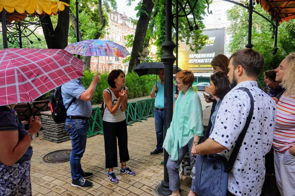 Excursion to Kyiv for participants of the OpenAIRE training, June 2019