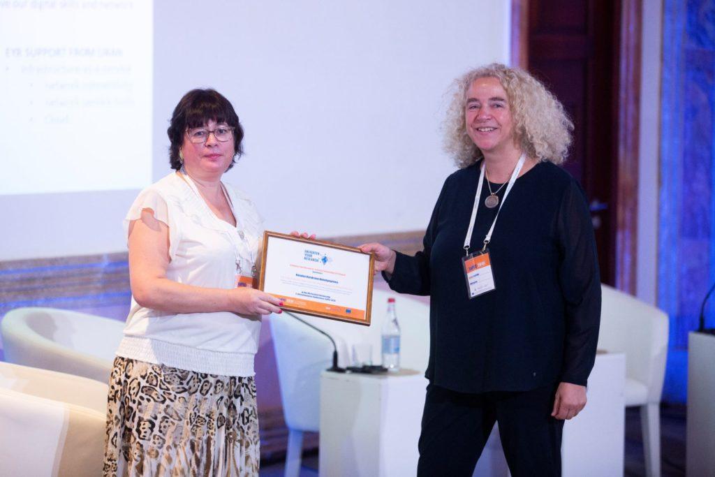 Awarding of the EYR 2019 Ukrainian winner in Yerevan at the EaPEC 2019 conference