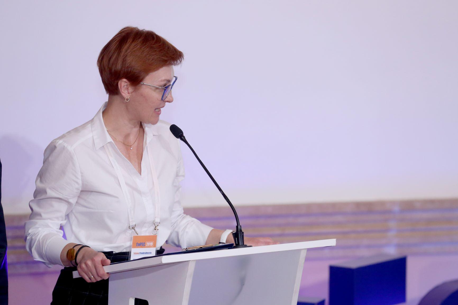 Тетяна Преображенська була ведучою обох панельних сесій
